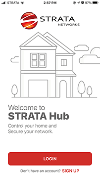 STRATA Hub Launch Screen